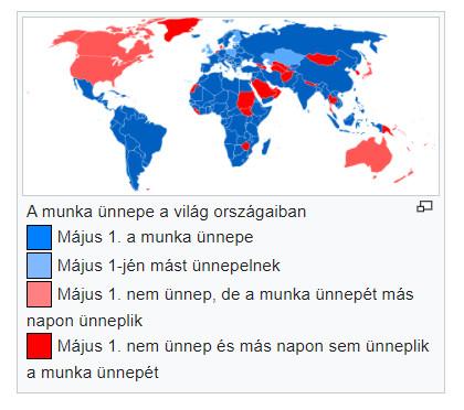 munka ünnepe a világ országaiban
